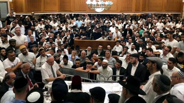 """הגעתו של כבוד מו""""ר עטרת ראשנו לארץ הקודש שיעור השבועי בישיבה באשדוד"""